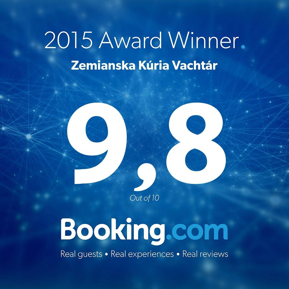 Ocenenie od Bookingu